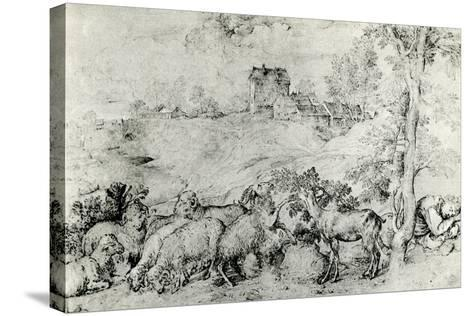 Landscape with Flock of Sheep, C1520-Titian (Tiziano Vecelli)-Stretched Canvas Print