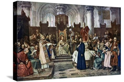 Jan Hus before the Council of Constance, 1415-Vaclav Brozik-Stretched Canvas Print