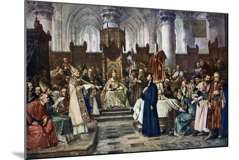 Jan Hus before the Council of Constance, 1415-Vaclav Brozik-Mounted Giclee Print