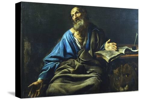 St Mark the Evangelist, C1611-1632-Valentin de Boulogne-Stretched Canvas Print