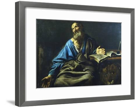 St Mark the Evangelist, C1611-1632-Valentin de Boulogne-Framed Art Print