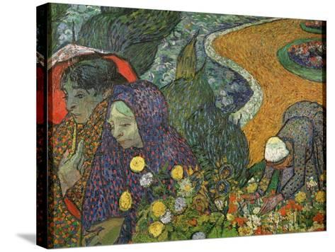 Ladies of Arles (Memory of the Garden at Ette), 1888-Vincent van Gogh-Stretched Canvas Print