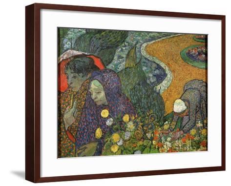 Ladies of Arles (Memory of the Garden at Ette), 1888-Vincent van Gogh-Framed Art Print