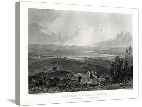 Sea of Galilee or Lake of Tiberias, 1887-W Richardson-Stretched Canvas Print