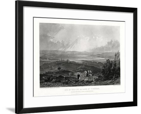 Sea of Galilee or Lake of Tiberias, 1887-W Richardson-Framed Art Print