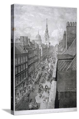 Cheapside, London, 1823-Thomas Mann Baynes-Stretched Canvas Print