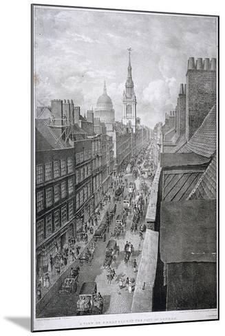 Cheapside, London, 1823-Thomas Mann Baynes-Mounted Giclee Print