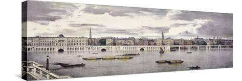 Proposed View of the River Thames, London, 1825-Thomas Mann Baynes-Stretched Canvas Print