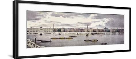 Proposed View of the River Thames, London, 1825-Thomas Mann Baynes-Framed Art Print