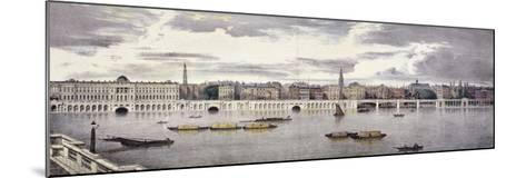 Proposed View of the River Thames, London, 1825-Thomas Mann Baynes-Mounted Giclee Print