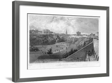 St James Cemetery, Liverpool, Looking North, 19th Century-Thomas Mann Baynes-Framed Art Print