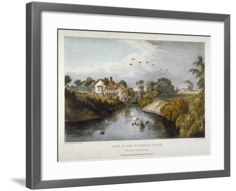 View in Regent's Park, St Marylebone, London, C1830-Thomas Mann Baynes-Framed Art Print