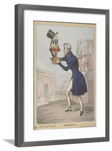 The Saveall, or Economy, 1828-Thomas McLean-Framed Art Print