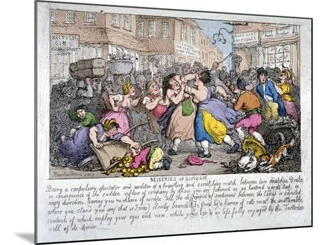 Miseries of London, 1807-Thomas Rowlandson-Mounted Giclee Print