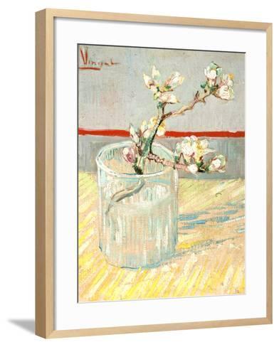 Sprig of Flowering Almond Blossom in a Glass, 1888-Vincent van Gogh-Framed Art Print