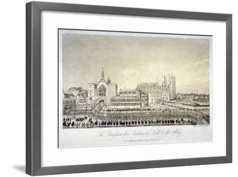 Procession Outside Westminster Hall, London, 1821-W Read-Framed Art Print
