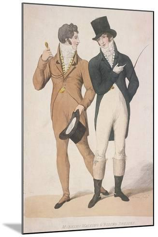 Morning Walking and Riding Dresses, C1810-W Read-Mounted Giclee Print