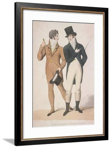 Morning Walking and Riding Dresses, C1810-W Read-Framed Art Print