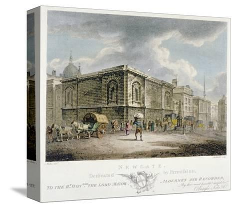 Newgate Prison, Old Bailey, City of London, 1800-Thomas Medland-Stretched Canvas Print