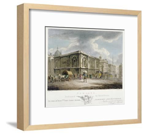 Newgate Prison, Old Bailey, City of London, 1800-Thomas Medland-Framed Art Print