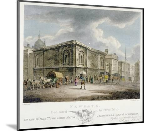 Newgate Prison, Old Bailey, City of London, 1800-Thomas Medland-Mounted Giclee Print