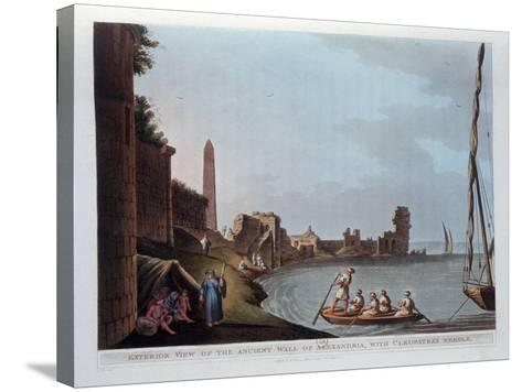 Exterior View of the Ancient Wall of Alexandria, with Cleopatra's Needle, 1802-Thomas Milton-Stretched Canvas Print