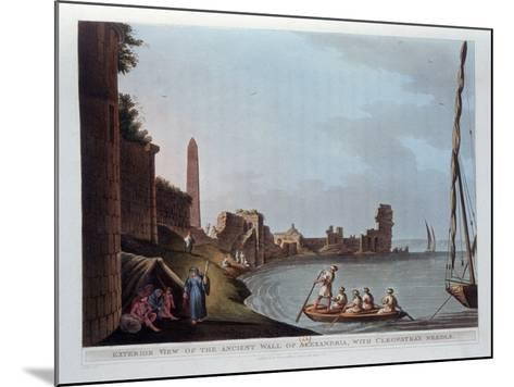 Exterior View of the Ancient Wall of Alexandria, with Cleopatra's Needle, 1802-Thomas Milton-Mounted Giclee Print