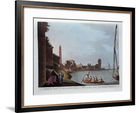 Exterior View of the Ancient Wall of Alexandria, with Cleopatra's Needle, 1802-Thomas Milton-Framed Art Print