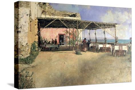 Taverna at Posillipo, 1886-Vincenzo Migliaro-Stretched Canvas Print