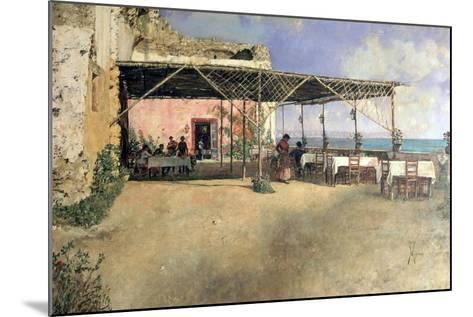 Taverna at Posillipo, 1886-Vincenzo Migliaro-Mounted Giclee Print