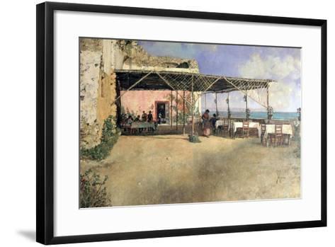 Taverna at Posillipo, 1886-Vincenzo Migliaro-Framed Art Print