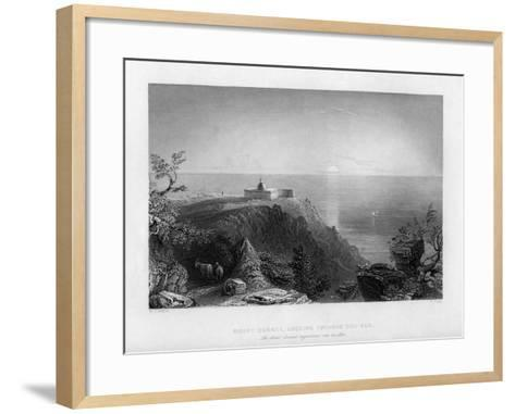 Looking Out to Sea from Mount Carmel, Israel, 1841-W Floyd-Framed Art Print