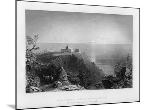 Looking Out to Sea from Mount Carmel, Israel, 1841-W Floyd-Mounted Giclee Print