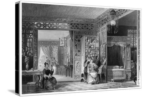 Boudoir and Bed Chamber of a Lady of Rank, China, 19th Century-W Floyd-Stretched Canvas Print