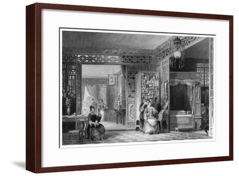 Boudoir and Bed Chamber of a Lady of Rank, China, 19th Century-W Floyd-Framed Art Print