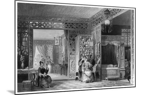 Boudoir and Bed Chamber of a Lady of Rank, China, 19th Century-W Floyd-Mounted Giclee Print