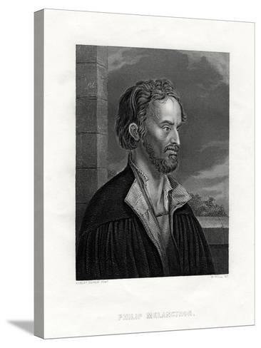 Philipp Melanchthon German Theologian and Writer of the Protestant Reformation, 19th Century-W Holl-Stretched Canvas Print