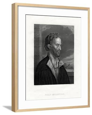 Philipp Melanchthon German Theologian and Writer of the Protestant Reformation, 19th Century-W Holl-Framed Art Print