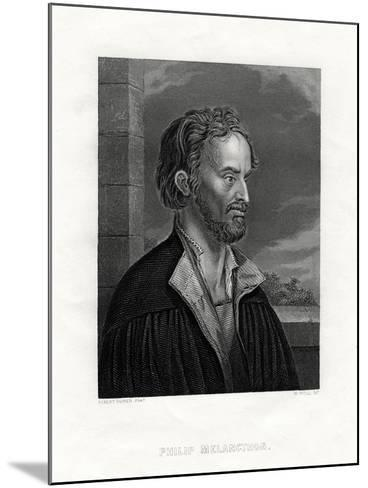 Philipp Melanchthon German Theologian and Writer of the Protestant Reformation, 19th Century-W Holl-Mounted Giclee Print