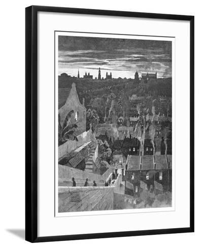 A Glimpse of Sydney from Darlinghurst, New South Wales, Australia, 1886-W Mollier-Framed Art Print