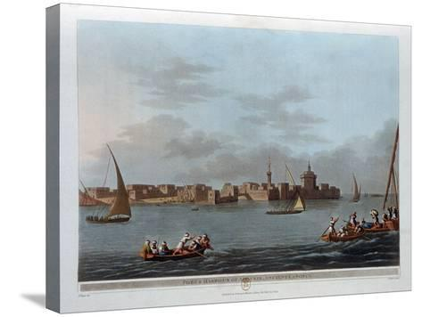 Fort and Harbour of Aboukir, Ancient Canopus, Egypt, 1801-Thomas Milton-Stretched Canvas Print