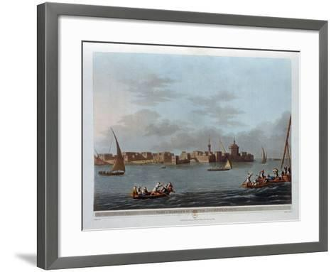 Fort and Harbour of Aboukir, Ancient Canopus, Egypt, 1801-Thomas Milton-Framed Art Print
