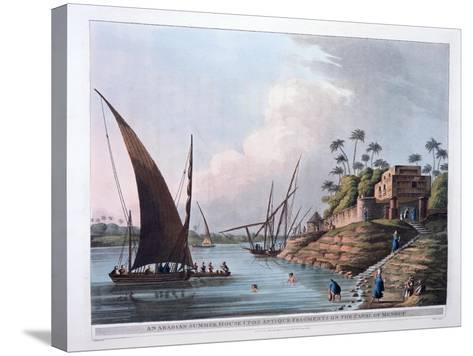 Arabian Summer House on the Canal of Menouf, Egypt, 1801-Thomas Milton-Stretched Canvas Print