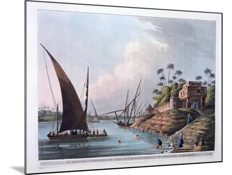 Arabian Summer House on the Canal of Menouf, Egypt, 1801-Thomas Milton-Mounted Giclee Print