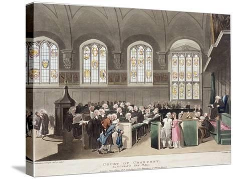 Lincoln's Inn, Holborn, London, 1808-Thomas Rowlandson-Stretched Canvas Print