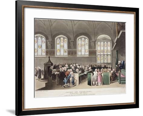 Lincoln's Inn, Holborn, London, 1808-Thomas Rowlandson-Framed Art Print