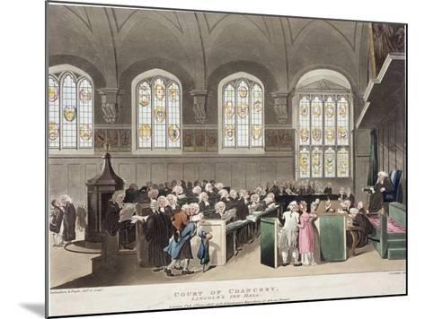 Lincoln's Inn, Holborn, London, 1808-Thomas Rowlandson-Mounted Giclee Print