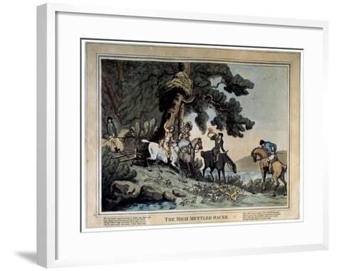 The High Mettled Racer, 1789-Thomas Rowlandson-Framed Art Print