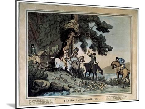 The High Mettled Racer, 1789-Thomas Rowlandson-Mounted Giclee Print