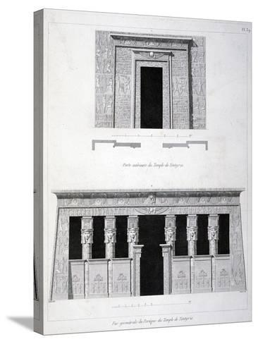 A Doorway and Gantry at the Temple of Tentyris, 19th Century-Vivant Denon-Stretched Canvas Print